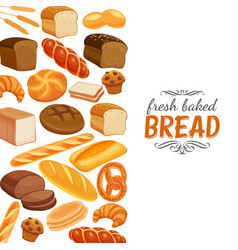 Bread products template page vector