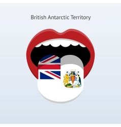 British Antarctic Territory language vector