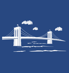 Brooklyn blue vector