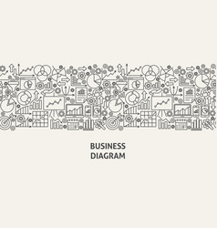 business diagram banner concept vector image
