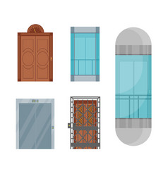 cartoon elevators set vector image