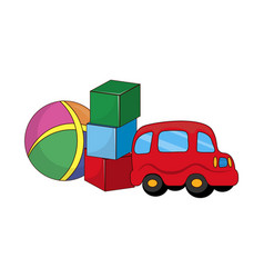 childish toys for boys made of rubber and plastic vector image