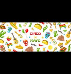 cinco de mayo - may 5 holiday in mexico mexican vector image