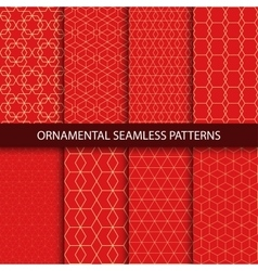 collection luxury seamless ornamental patterns vector image