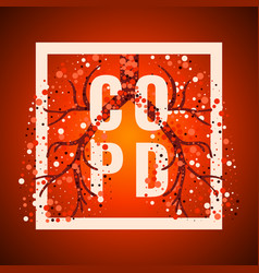 Copd frame poster vector