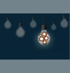 Creative idea teamwork business concept hanging vector