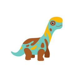 Cute colorful brontosaurus dinosaur prehistoric vector