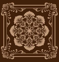 Decorative frame in vintage vector