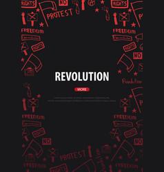 demonstration manifestation protest strike vector image