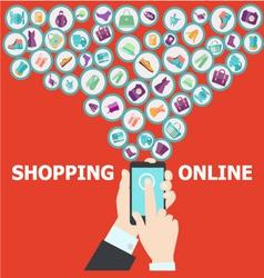 digital marketing pattern background vector image