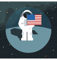 Digital with astronaut sign with usa flag vector image