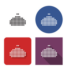 dotted icon purse in four variants with short vector image