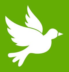 Dove icon green vector