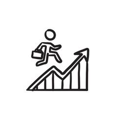 financial recovery sketch icon vector image