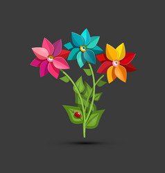 flower bougues colorful spring garden flowers vector image
