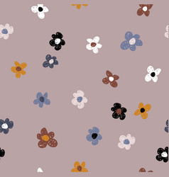 flower seamless pattern creative texture for vector image
