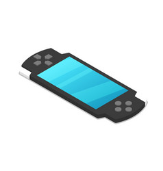gamepad device isometric 3d icon vector image