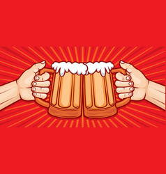 Glasses of beer vector