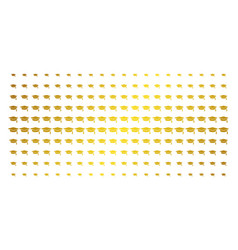 graduation cap golden halftone effect vector image