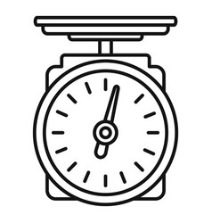 Grocery scales icon outline style vector