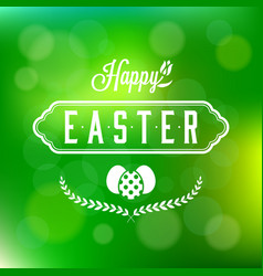 happy easter calligraphic headline and eggs vector image vector image