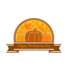 happy thanksgiving day celebration banner vector image