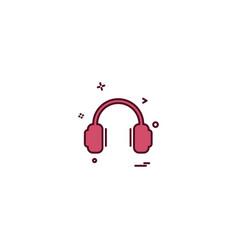 headphone icon design vector image