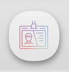 id tag identification document app icon uiux user vector image
