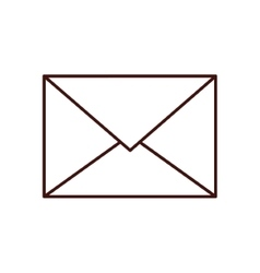 Isolated envelope design vector