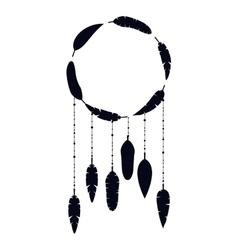 Isolated feather plume and circle design vector