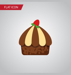 isolated muffin flat icon cupcake element vector image
