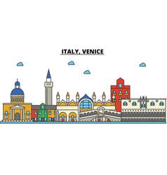 italy venice city skyline architecture vector image