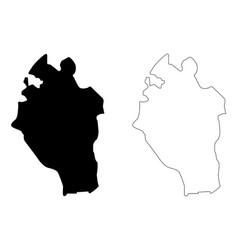 Kabaena island map vector