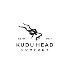 kudu logo design vector image