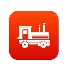 locomotive icon digital red vector image