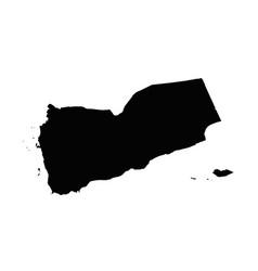 map yemen isolated black on vector image