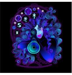 military horoscope sagittarius vector image