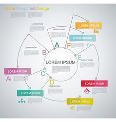 Minimal timeline infographic design vector