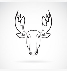 Moose deer head design on white background wild vector