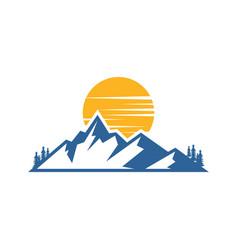 mountain landscape logo image vector image