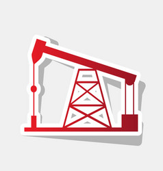 oil drilling rig sign new year reddish vector image