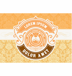 Old badge design with baroque background vector