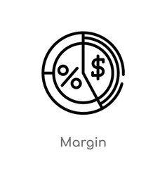 Outline margin icon isolated black simple line vector
