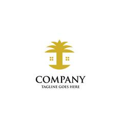 palm house logo vector image