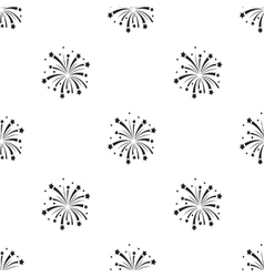 Patriotic fireworks icon in black style isolated vector image