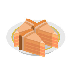 piece of cake icon isometric style vector image
