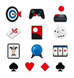 poker game play card dice archer cube vector image