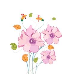 Poppy flowers watercolor vector