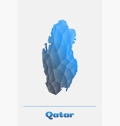 qatar network map logo vector image