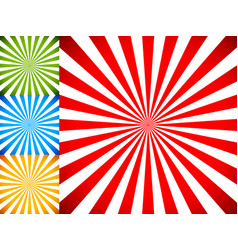 rays or starburst backgrounds vector image